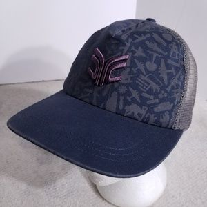 French Connection FCUK Vented Rear Snap Back Hat